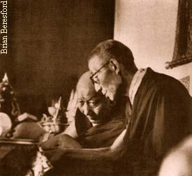 Kyabje Ling Rinpoche and Kyabje Trijang Rinpoche, Tutors to H.H. the Dalai Lama